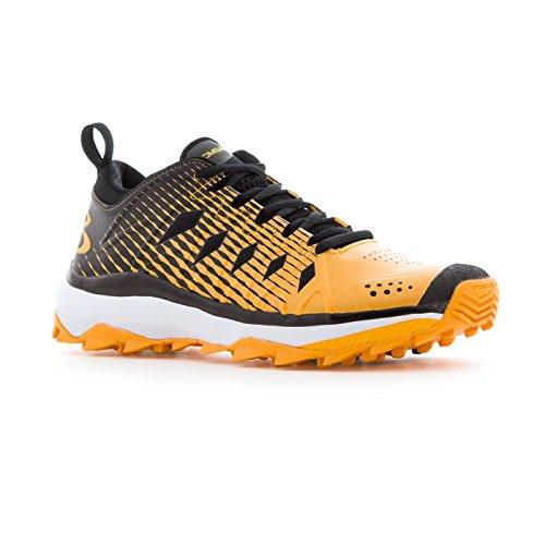 Boombah Womens Squadron Turf Shoes - 14 Opzioni Di Colore - Più Dimensioni Nero / Oro