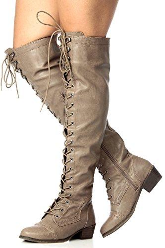 Fourever Funky, Damen Stiefel & Stiefeletten , Beige - beige - Größe: 39 EU