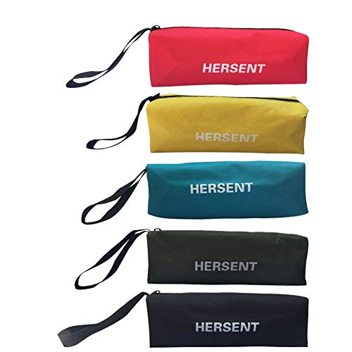- Zippered Canvas Tool Bag with Hanging Loop Multi-Purpose Heavy Duty Tool Pouch Handy Tote Bags for Men Women - Smart Assorted Colored Storage Organizer 5 Pack HGJ09-US (5color Assorted)