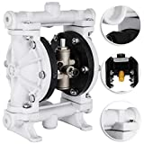 Happybuy Air-Operated Double Diaphragm Pump 1/2 inch Inlet Outlet Polypropylene 13 GPM Max 100PSI for Chemical Industrial Use, QBY-15PP