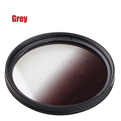 Market&YCY Filtro de gradiente de Filtro gradiente Gris Degradado 58 mm, para Canon Nikon Sony Lente de camara reflex Digital