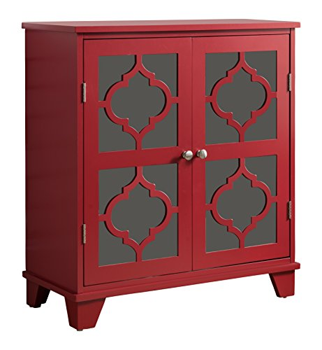 Kings Brand Furniture Red Finish Wood Buffet Cabinet Console Table by Kings Brand Furniture (Image #3)