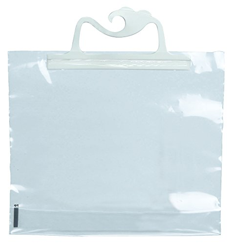 Monaco Hangup Portable Original Bag, 9 X 8 in, 4 mil Polyethylene, Clear, Pack of 10