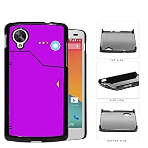 Pokedex Pocket Monsters Violet Hard Plastic Snap On Cell Phone Case LG Nexus 5