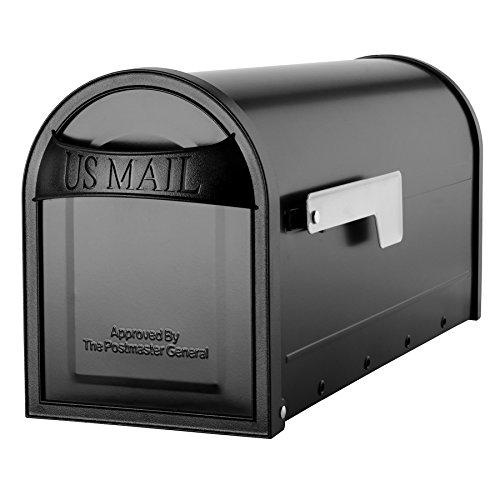 Architectural Mailboxes Metal Black Post Mount Mailbox Carlisle Post