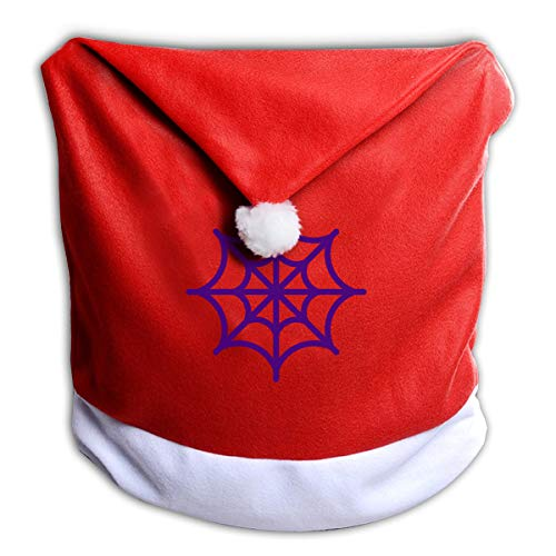 FUNMAX Spider Web Holidays Halloween Non-Woven Xmas Christmas Themed Dinner Chair Cap Hat Covers Set Ornaments Backers Protector for Seat Slipcovers Wraps Coverings Decorations]()