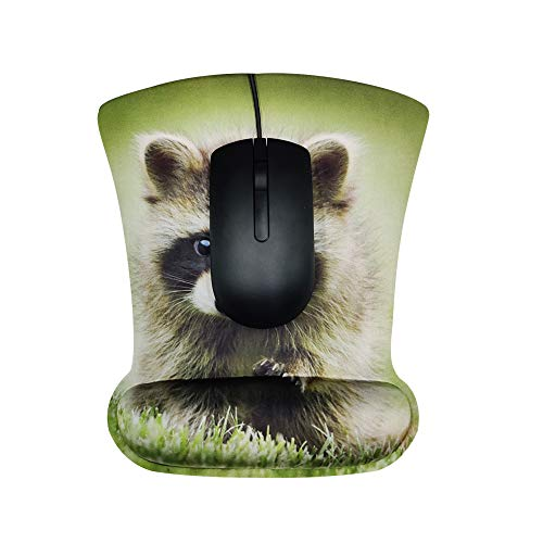 Jahovans X Mouse Pad Wrist Rest Animals Pattern for Office, Computer, Laptop & Mac - Non Slip Rubber Base Wrist Support with Ergonomic Raised Memory Foam for Easy Typing & Pain Relief