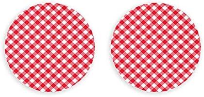 Abrebotellas Diagonal Rojo Mantel Vector Sin Costuras 2 Piezas Imanes Decorativos Sacacorchos De Nevera