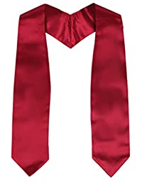 "GraduationMall Unisex Kindergarten Plain Graduation Stole 50"" long"