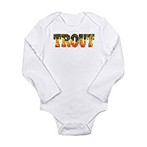 CafePress - Brook Trout Fly Fishing Catch Long Sleeve Infant B - Cute Long Sleeve Infant Bodysuit Baby Romper