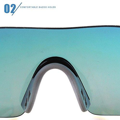 La Monta Al Aire Azul Hombre LBY Gafas Color Libre Colores 5 De para Marco Sin Los de Green Película HD Liviano Deportivo De Espejo Que Sol Brillante Opcional Vidrios vvzqwO