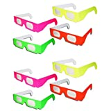8 Pairs Prism Diffraction Fireworks Glasses - For Laser Shows, Raves