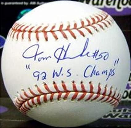 f1b176ac8 Image Unavailable. Image not available for. Color  Tom Henke Autographed  Baseball ...