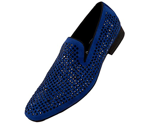 Amali Devy, Mens Slippers - Mens Loafers - Tuxedo Shoes - Mens Fashion Shoes, Velvet Embellished, Dress Shoe, Rhinestone Mens Casual Shoes