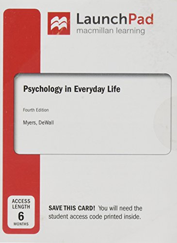 LaunchPad for Psychology in Everyday Life (Six Month Access)
