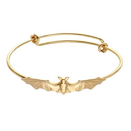 SENFAI Vampire Bats Bracelet Adjustable Expandable Wire Bangles Perfect
