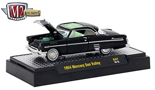 M2 Machines 1954 Mercury Sun Valley (Gloss Black) Auto-Thentics Series Release 47 - 2018 Castline Premium Edition 1:64 Scale Die-Cast Vehicle (R47 18-12)