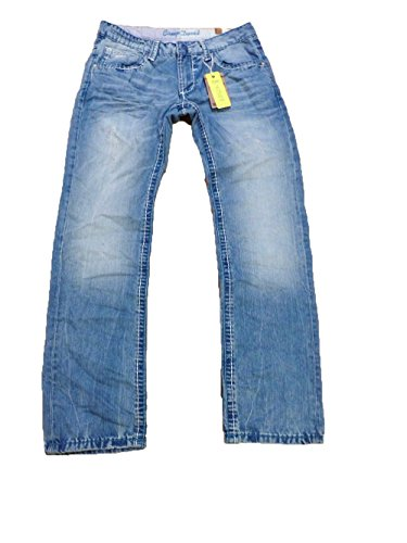 CAMP DAVID HERREN JEANS NICO STONE R611 REGLAR FIT BOOTCUT LOW WAIST USED DENIM 1398 CD CDU-9999-1446 W31 32 33 34 36 38 40