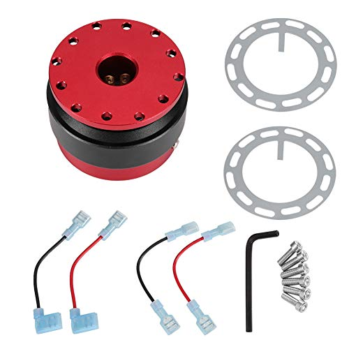 Aramox Quick Release Steering Wheel Hub, Universal Racing Car Steering Wheel Quick Release Adapter Hub Boss Kit with Button ()