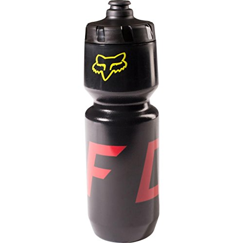Fox Racing Purist Moth Water Bottle - 26oz - 18504-019 (Black/Yellow - One Size) ()