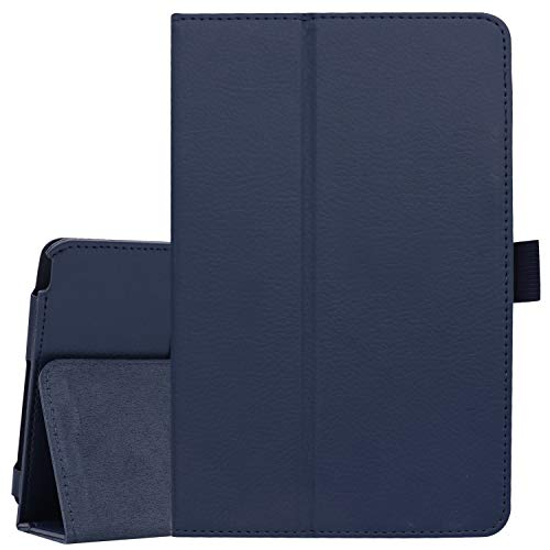 Ratesell Galaxy Tab A 8 (2019) Case, Multi-Angle Stand Slim-Book PU Leather Case Cover with Stylus Slot Holder Compatible with Samsung Galaxy Tab A 8 (2019) SM-P200 ; SM-P205 Navy Blue