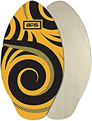 BPS 'Koru' Skimboards with Colored EVA Grip Pad and High Gloss Clear Coat | Wooden Skim Board with Grip Pad fo