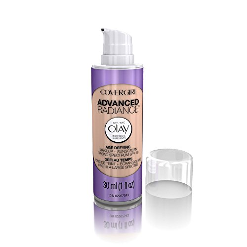 COVERGIRL Advanced Radiance Age Defying Liquid Foundation in Classic Ivory, Hides Wrinkles & Lines, Sensitive Skin Safe…