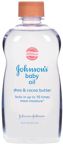 Johnson's Baby Oil, Mineral Oil Enriched With Shea & Cocoa Butter, 14 fl. oz by Johnson's Baby