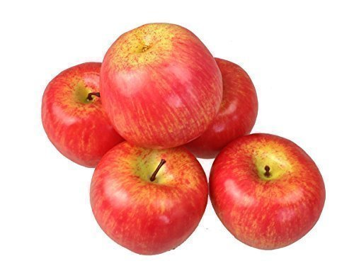 Deko Äpfel Apfel 5 Stück rot Kunstobst Kunstgemüse künstliches Obst Gemüse Dekoration