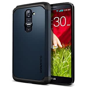 SPIGEN LG G2 Case Slim [Slim Armor] [Metal Slate] Dual Layer Protective Case for AT&T, Sprint, T-Mobile, International ONLY - Me