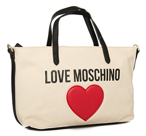 010a Donna Moschino Love Borsa Naturale tZqwW