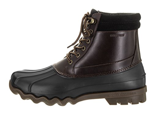 Sperry Sider Boot Men's Rain Brewster Amretto Blk Top grw5qfg