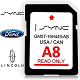 Original Ford Navigation SD Card A8 Sync Map Update System for US and Canada GM5T-19H449-AB Number, Also Suitable for Lincoln Cars