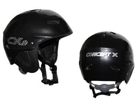 Concept X Kite + Surf Helm CX Pro Wassersporthelm White/Schwarz/Carbon (carbon, L)
