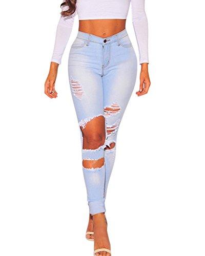 Legging Boyfriend Guiran Bleu Push Dcontract Taille Up Skinny Jeggings Pantalon Pencil Jean Dchir Clair Femme Stretch Haute PAqrPzZ