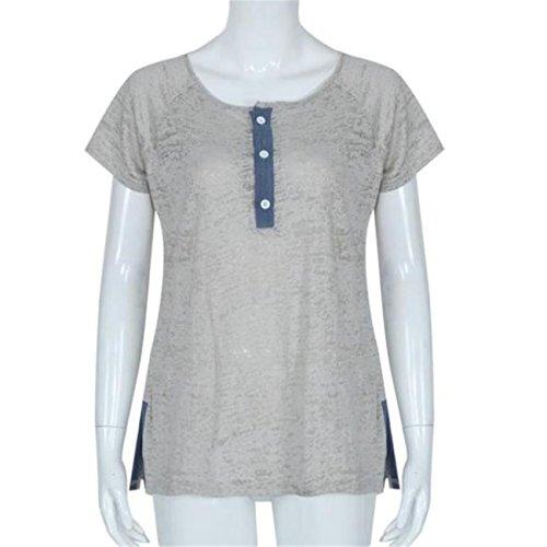 LHWY Donne Pulsante casuale sciolto camicetta T Shirt Canottiere