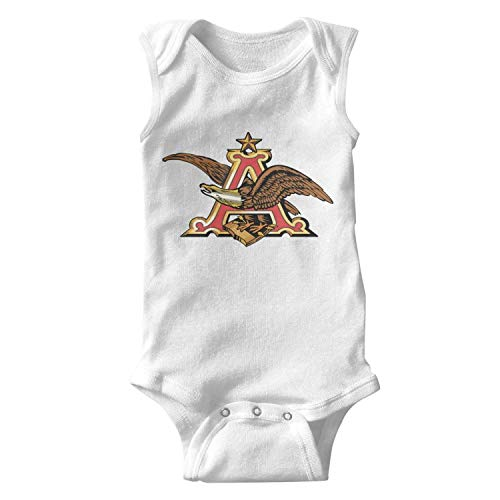 ORYSJDGTS Kids Sleeveless Anheuser-Busch-Beer-Sign- Summer Bodysuit for Cute Toddler