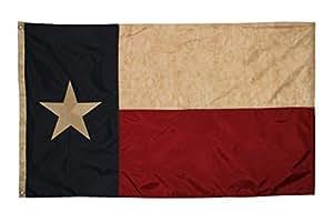 Embroidered Texas Vintage Flag (Premium Grade Polyester), 3' X 5'
