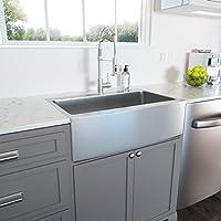 33 Drop In Farmhouse Sink Lordear 33 Inch Farmhouse Sink Drop In Topmount Apron Front 16 Gauge Stainless Steel Deep Single Bowl Kitchen Farm Sink Amazon Com