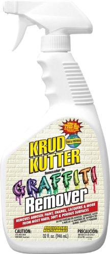 (KRUD KUTTER GR326 Graffiti Remover, 32-Ounce, Clear)