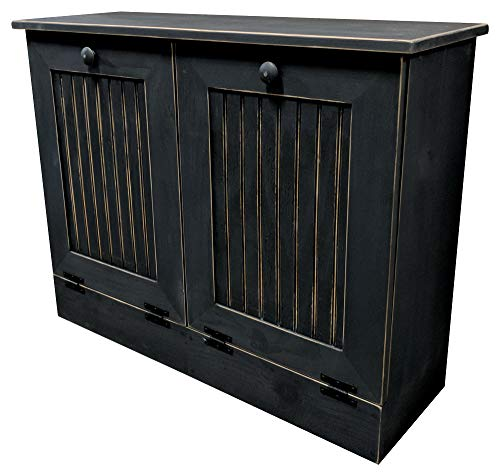 Sawdust City Double Tilt Out Trash Cabinet (Old - Black)