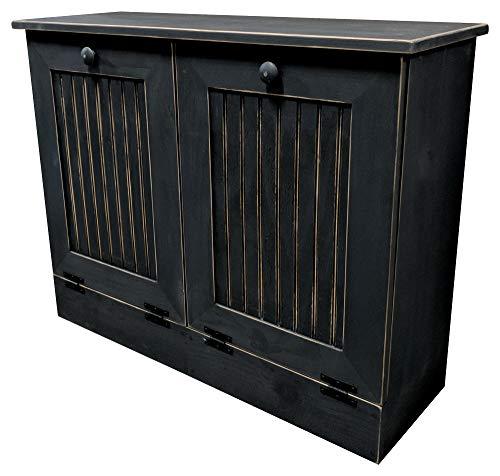 - Sawdust City Double Tilt Out Trash Cabinet (Old - Black)