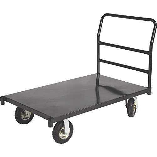 Ironton Metal Platform Cart – 1000-Lb. Capacity, 48in.L x 24in.W, 8in. Casters
