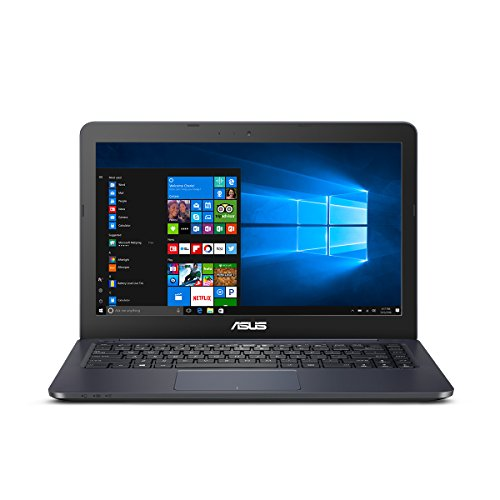 ASUS L402SA Portable Lightweight Laptop PC, Intel Dual Core Processor, 4GB RAM, 32GB Flash Storage with Windows 10 with 1 Year Microsoft Office 365 Subscription (Mini Laptop Asus)