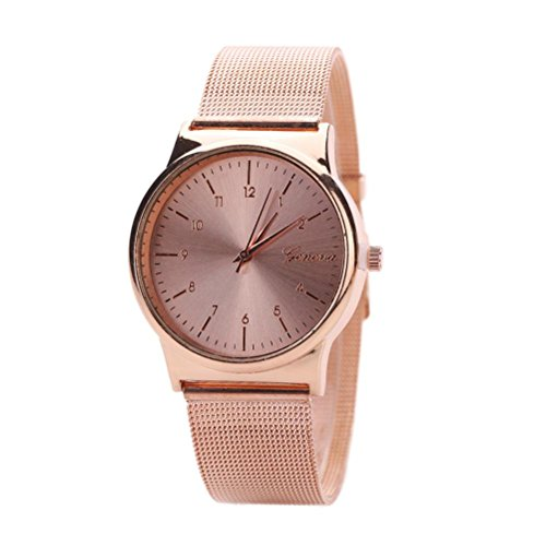TONSEE Fashion Womens Quartz Stainless Steel Wrist Watch (Rose Gold)