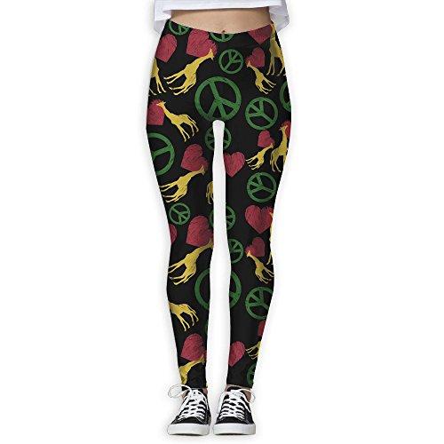 00517f738868e Tdhrv Whdyrl Womens Cute Peace Love Giraffe Grunge Athletic Gym Yoga  Leggings Stretchy High Waist Yoga