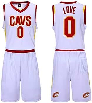 WYK # 0 Cavaliers Love - Camiseta de Baloncesto, Transpirable y ...