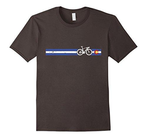 Colorado State Flag Road Bike Distressed Vintage Tshirt -  Peloton Bike Racing Tees
