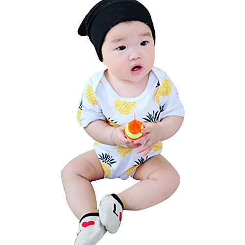 Morecome Baby Boy Girls Cotton Pineapple Romper Jumpsuit Bodysuit Newborn Kids Clothes Outfit