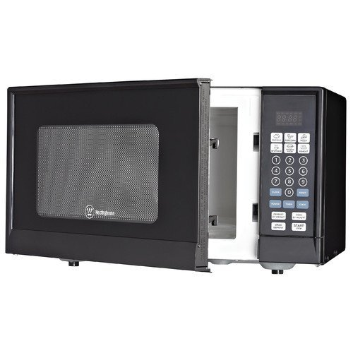 Westinghouse, WM009, Countertop Microwave Oven, 900 Watt, 0.9 Cubic Feet, Stainless Steel Front, Black Cabinet, Small
